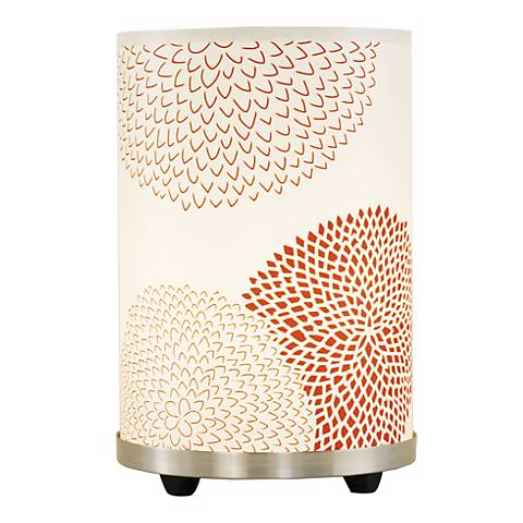 "Lights Up! Red 10""H Mumm Small Meridian Accent Table Lamp"