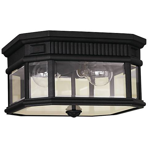 "Feiss Cotswold Lane 11 1/2""W Black Ceiling Light"