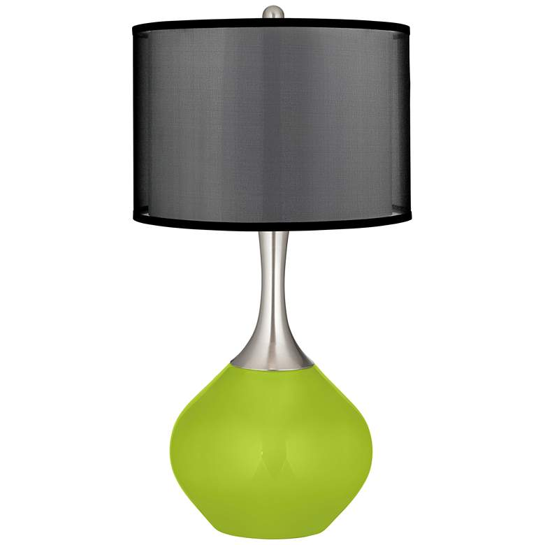 Tender Shoots Spencer Table Lamp with Organza Black Shade