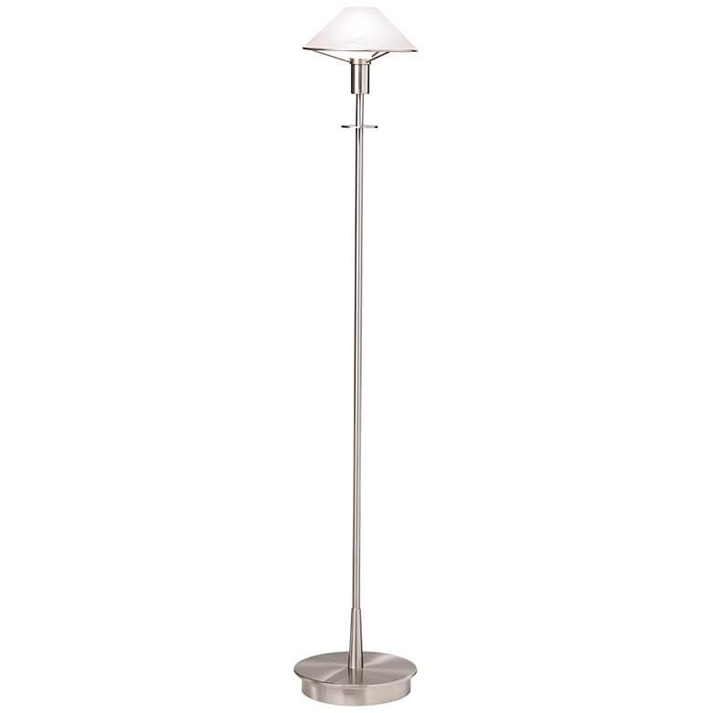 Holtkoetter Satin Nickel and Alabaster White Floor Lamp