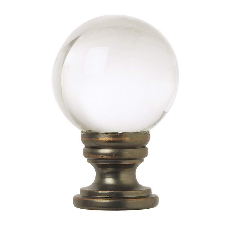 Lump Plus: Crystal Ball Lamp Shade Finial - #76724