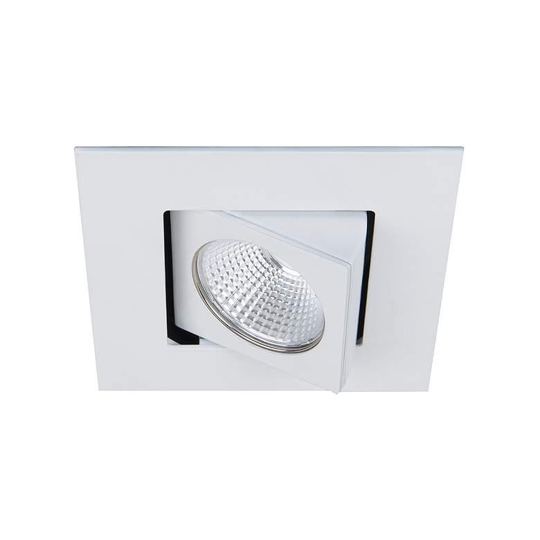 "Oculux Warm Dim 3 1/2"" Square White Spot LED Adjustable Trim"