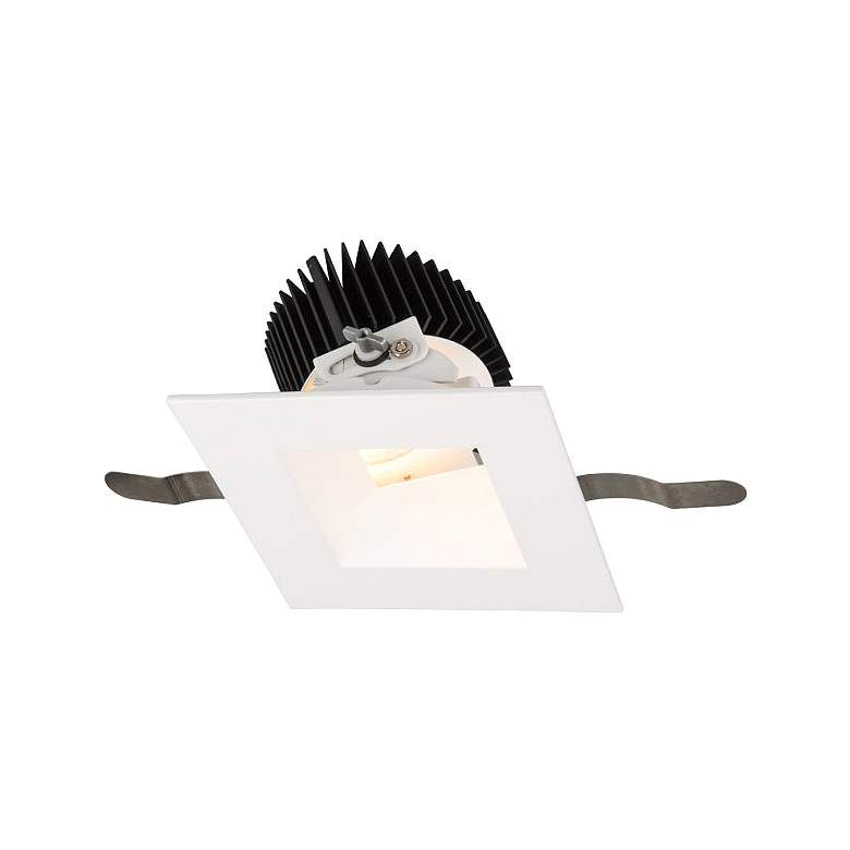 """WAC Aether 3 1/2"""" Square White LED Adjustable Downlight"""