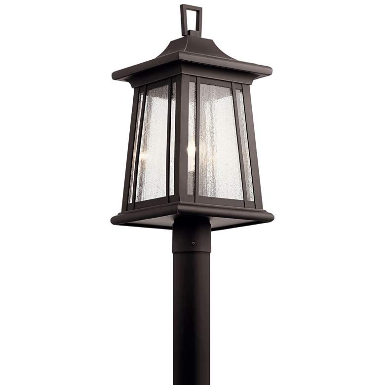 "Kichler Taden 21 1/2"" High Rubbed Bronze Outdoor Post Light"