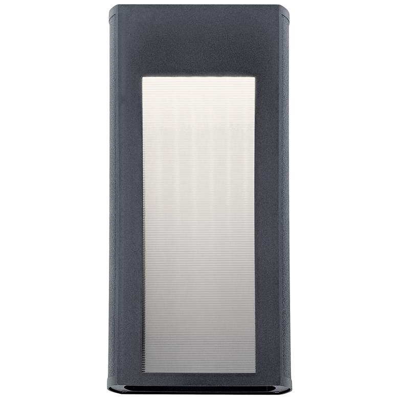 "Kichler Ryo 16 1/4""H Textured Black LED Outdoor Wall Light"