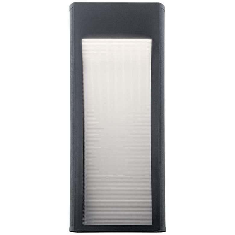 "Kichler Ryo 20 3/4""H Textured Black LED Outdoor Wall Light"