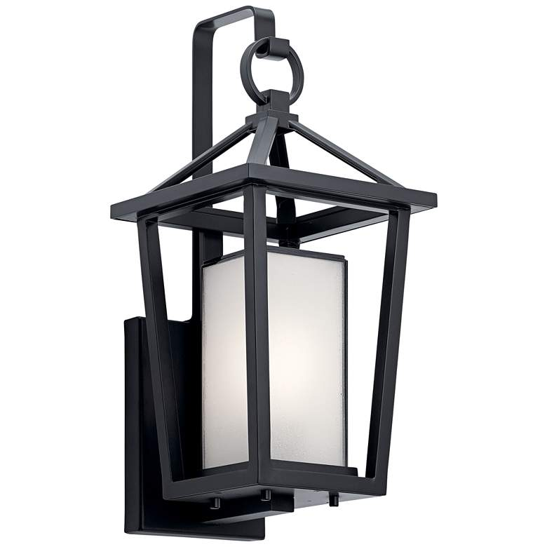 """Kichler Pai 17 1/4"""" High Black Open Cage Outdoor Wall Light"""
