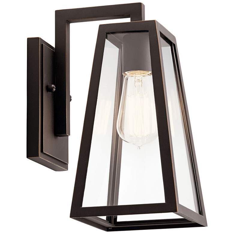 """Kichler Delison 11 1/2""""H Rubbed Bronze Outdoor Wall Light"""
