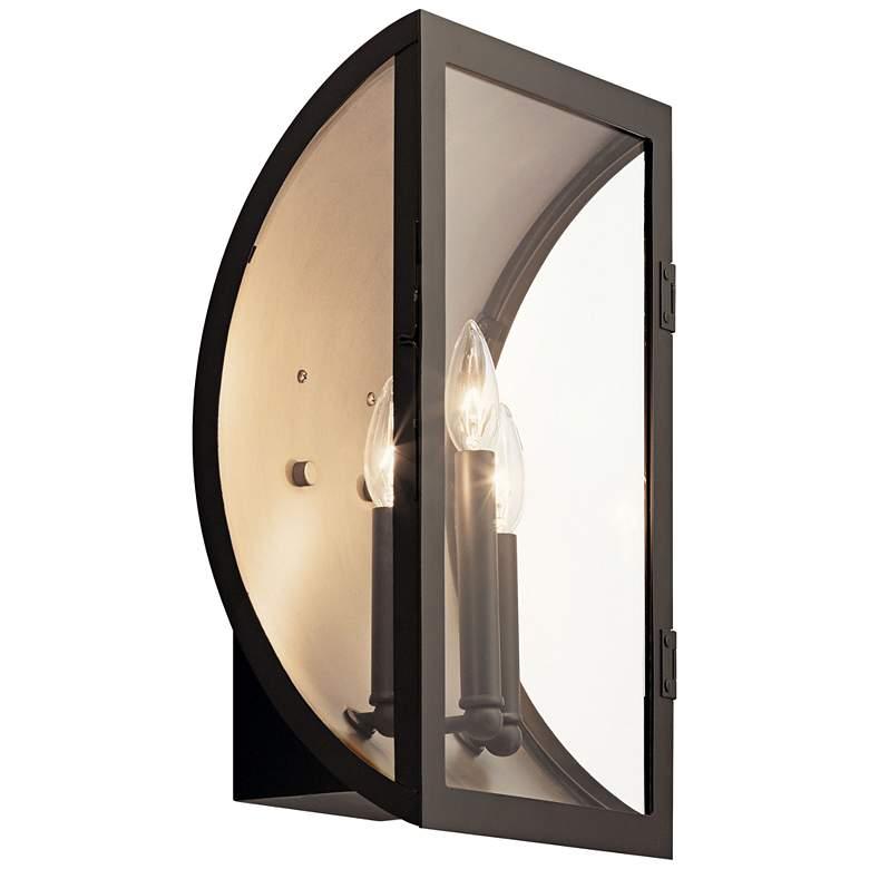 """Narelle 17"""" High Bronze and Brass 3-Light Outdoor"""