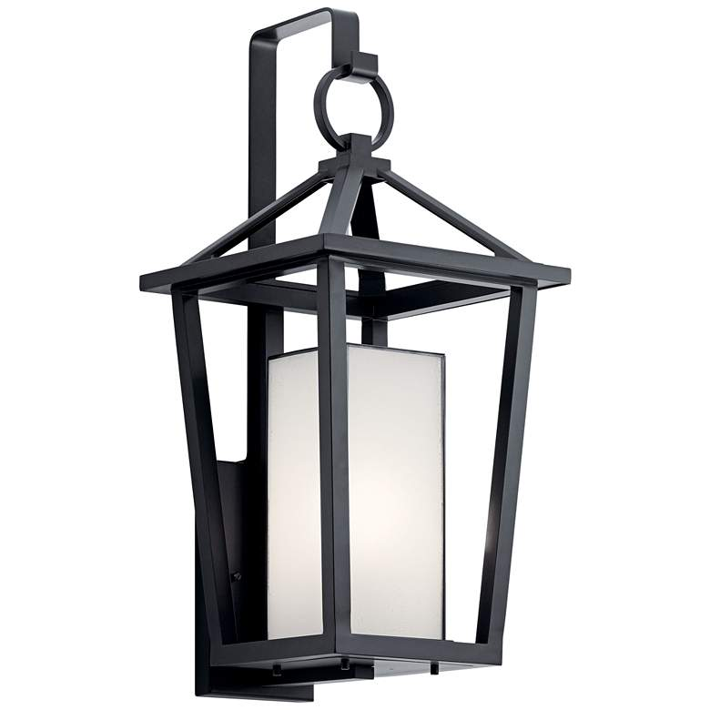 """Kichler Pai 26 1/4"""" High Black Open Cage Outdoor Wall Light"""