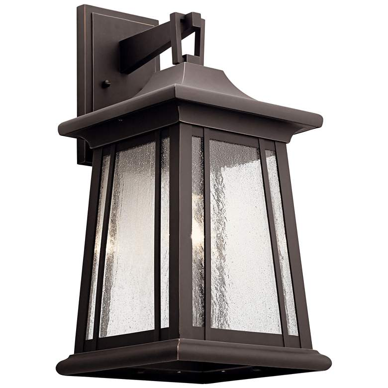 "Kichler Taden 20 3/4"" High Rubbed Bronze Outdoor Wall Light"