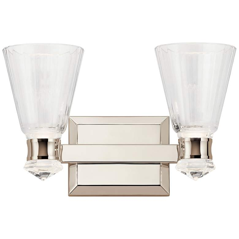 "Kichler Kayva 9""H Polished Nickel 2-Light LED Wall"