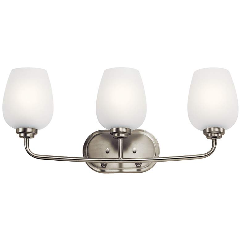 "Kichler Valserrano 24""W Brushed Nickel 3-Light Bath Light"