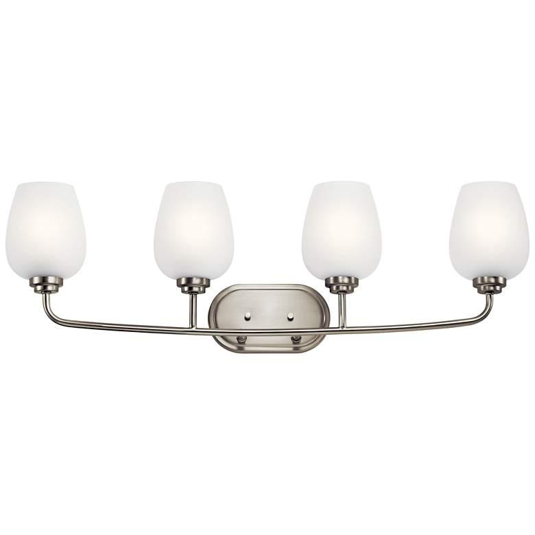"Valserrano 33 1/2"" Wide Brushed Nickel 4-Light Bath Light"