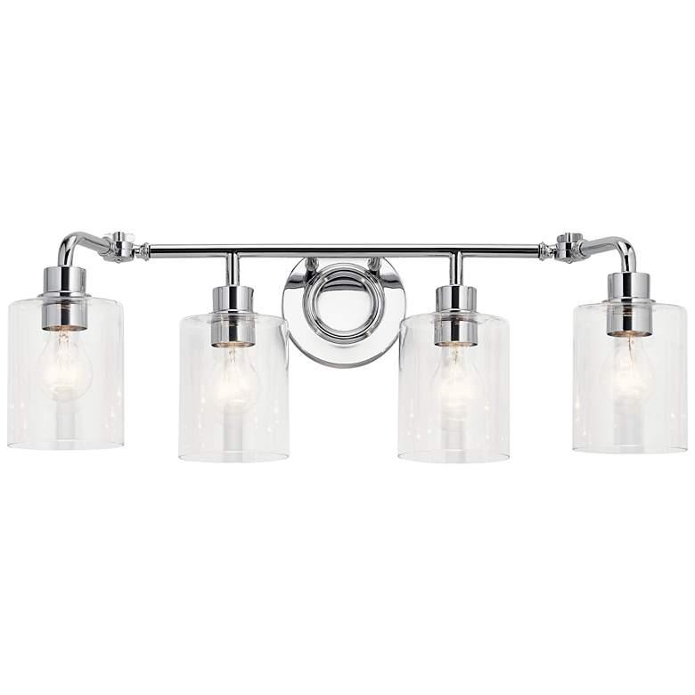 "Kichler Gunnison 33 3/4"" Wide Chrome 4-Light Bath Light"