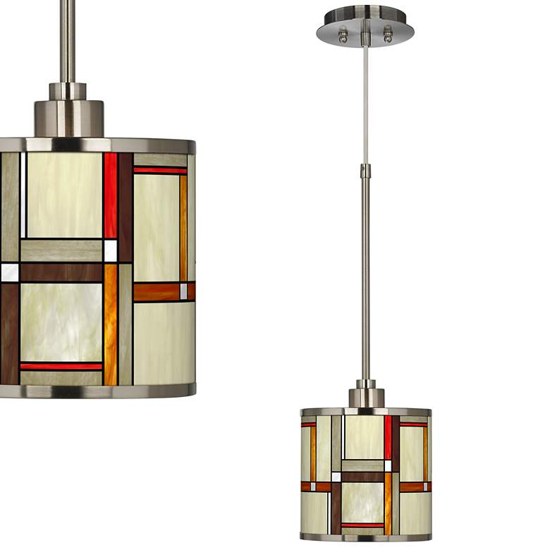 Modern Squares Giclee Glow Mini Pendant Light