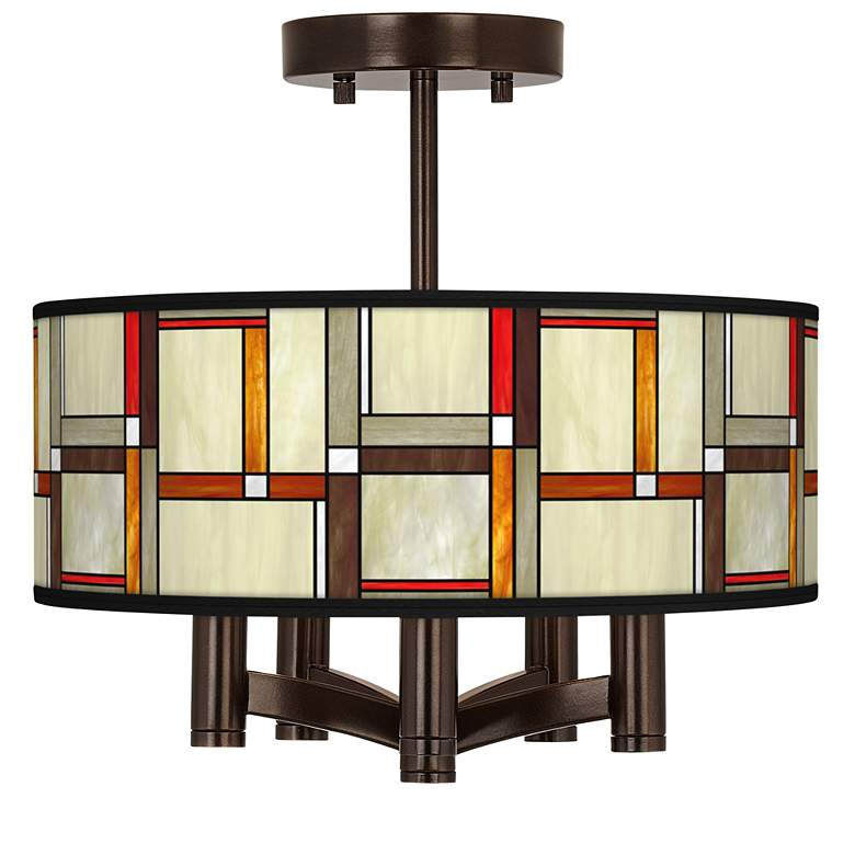 Modern Squares Ava 5-Light Bronze Ceiling Light