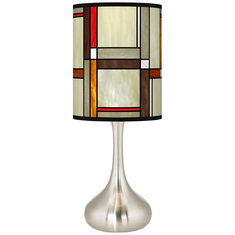 Modern Squares Giclee Droplet Table Lamp