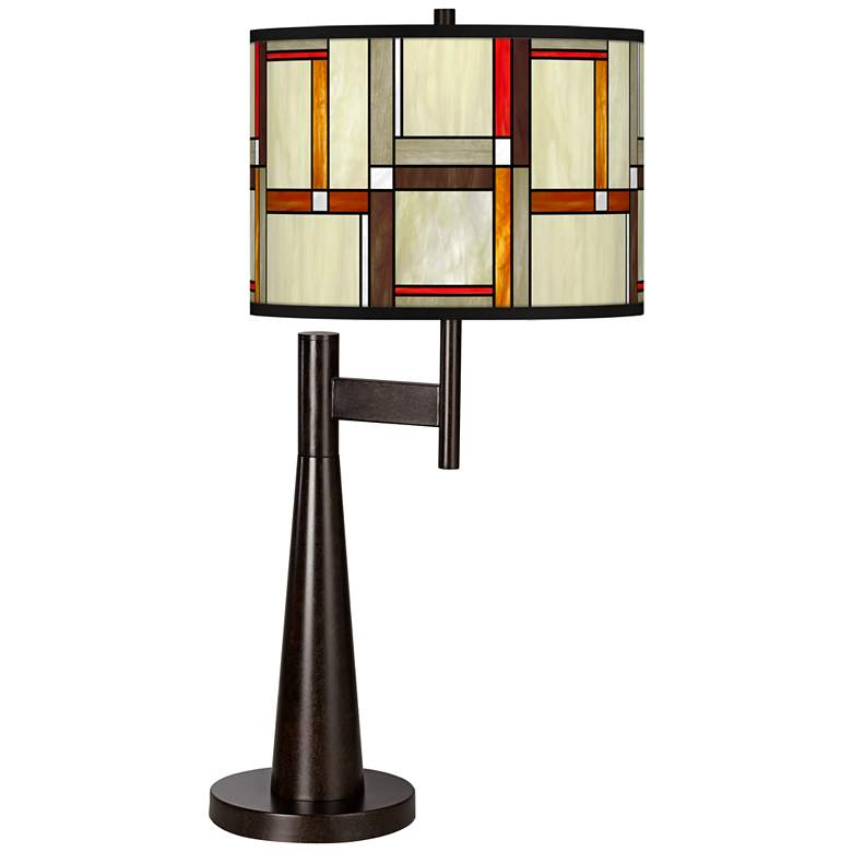 Modern Squares Giclee Novo Table Lamp
