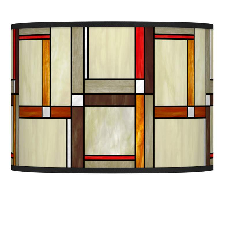 Modern Squares Giclee Lamp Shade 13.5x13.5x10 (Spider)