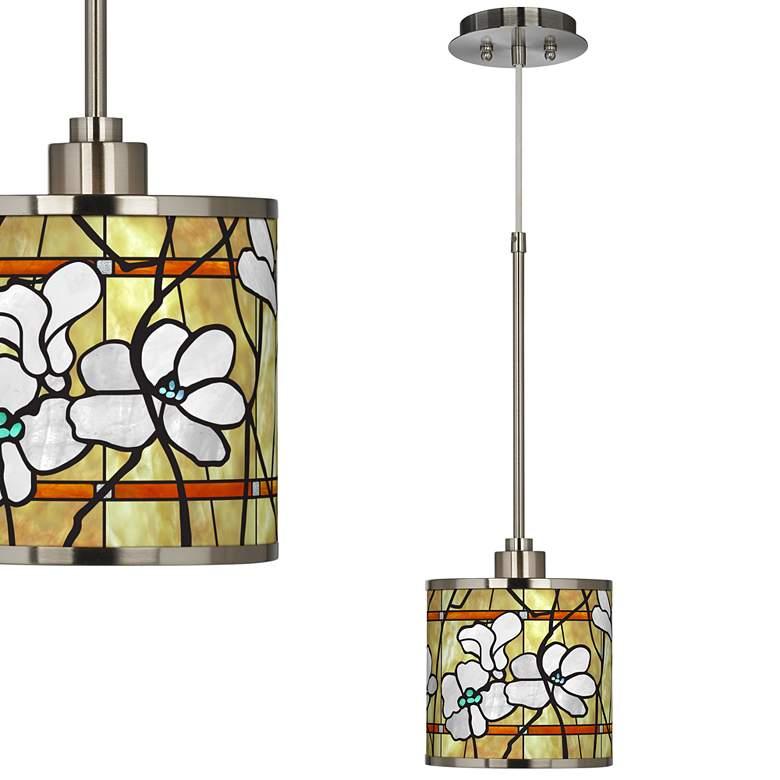 Magnolia Mosaic Giclee Glow Mini Pendant Light