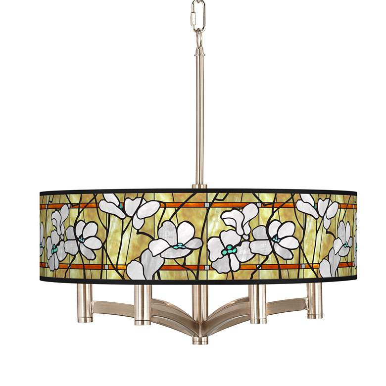 Magnolia Mosaic Ava 6-Light Nickel Pendant Chandelier