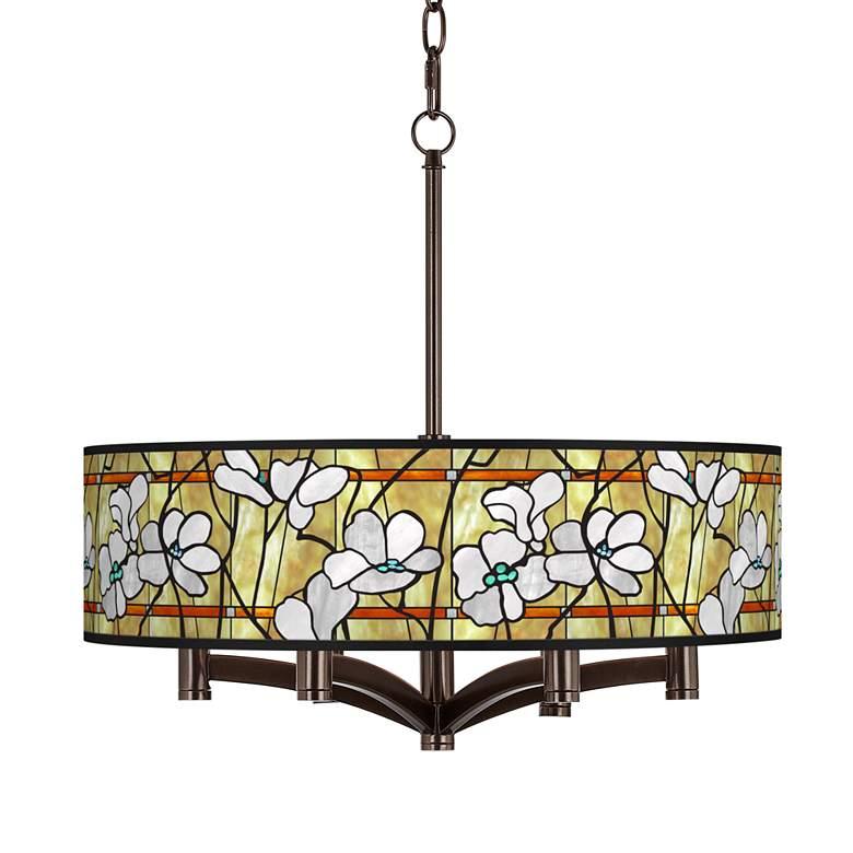 Magnolia Mosaic Ava 6-Light Bronze Pendant Chandelier