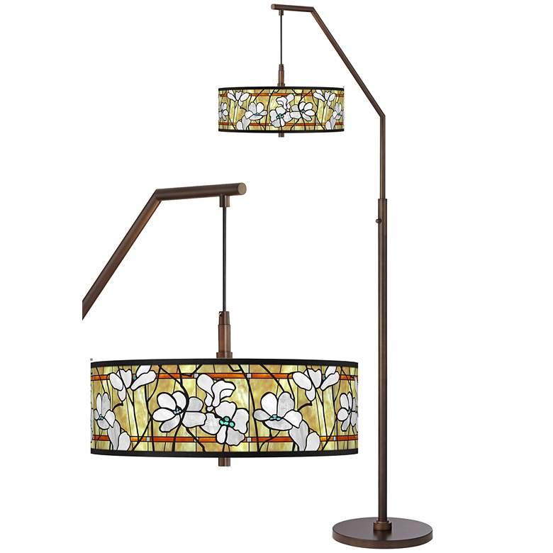 Magnolia Mosaic Bronze Downbridge Arc Floor Lamp