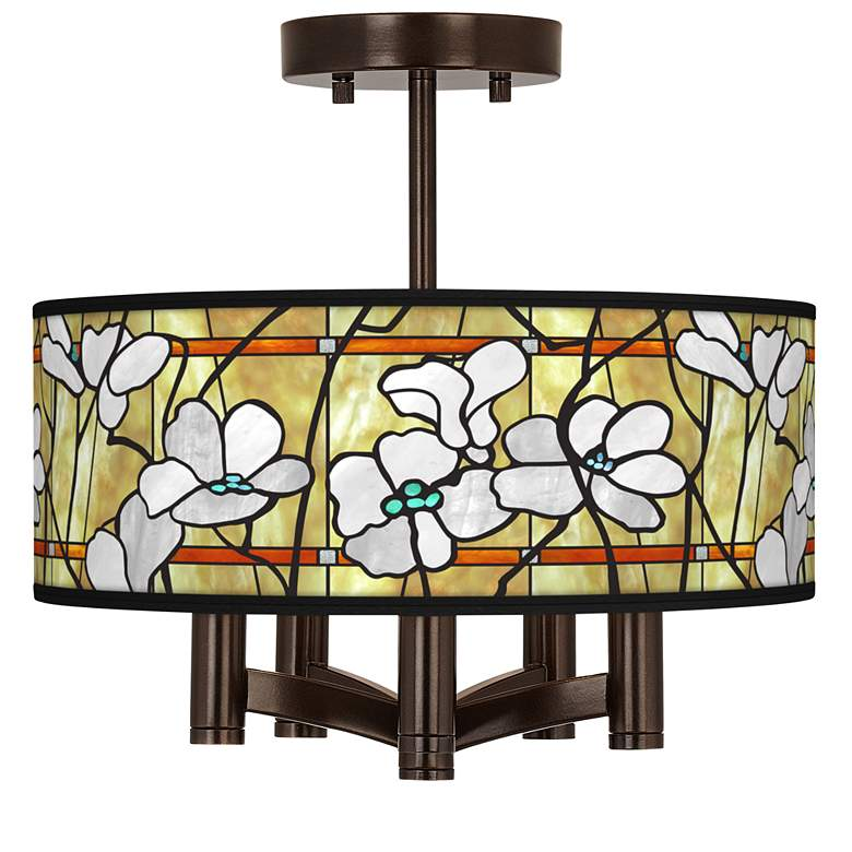 Magnolia Mosaic Ava 5-Light Bronze Ceiling Light