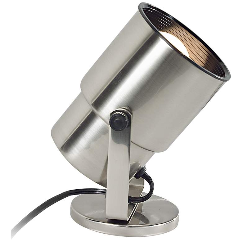 """Pro Track Brushed Nickel 8"""" High BR20 LED Accent Uplight"""