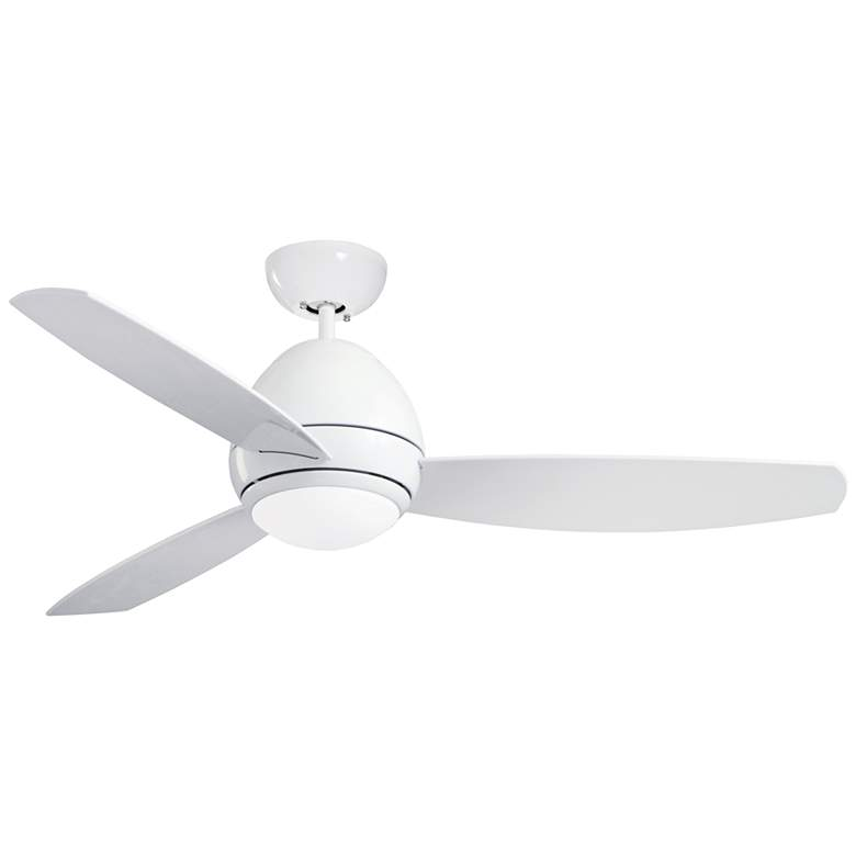 "52"" Emerson Curva Appliance White LED Outdoor Ceiling Fan"