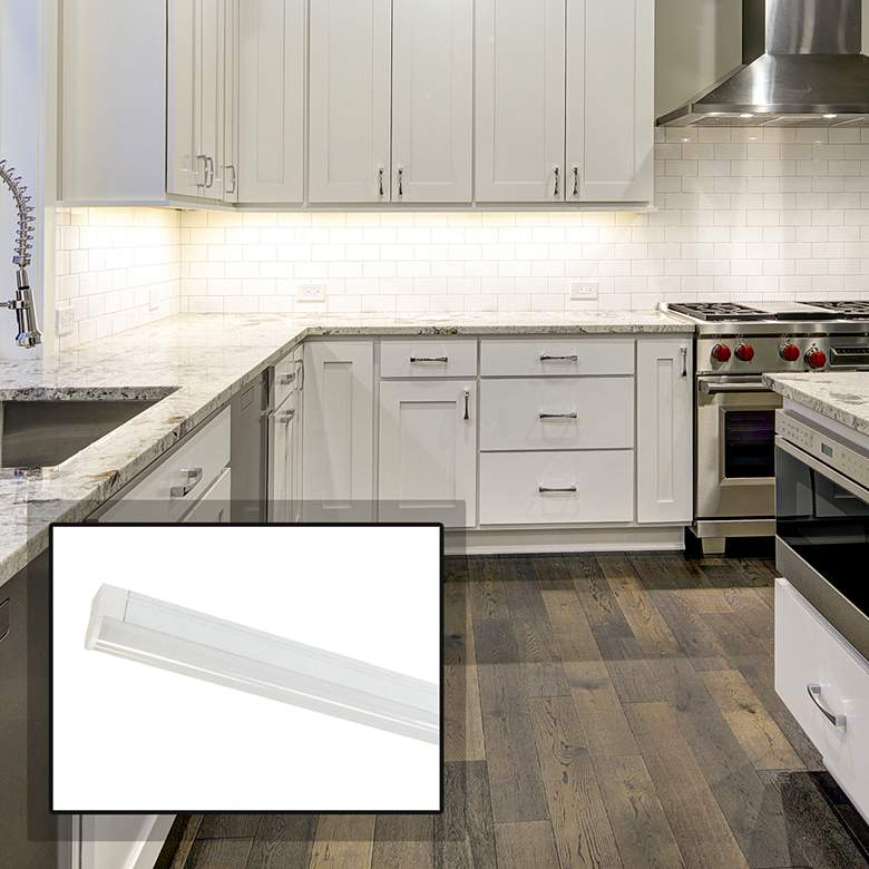"""Nora NULS-LED 33"""" White Linear Under Cabinet Light"""