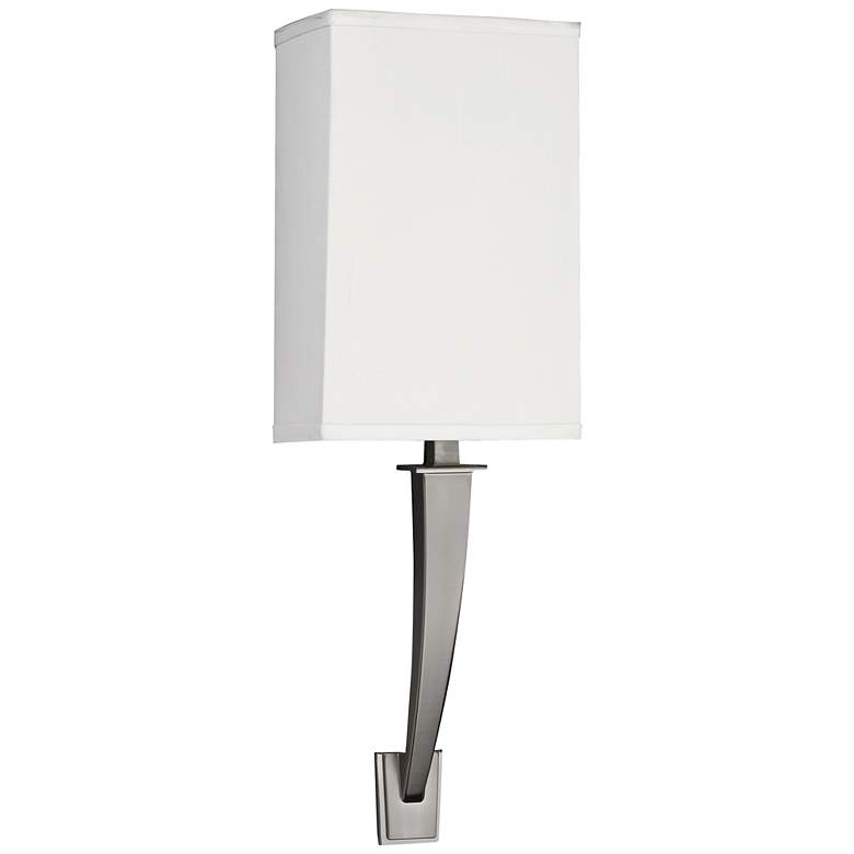 "Sheridan 18 1/2"" High Satin Nickel 1-Arm LED Wall Sconce"
