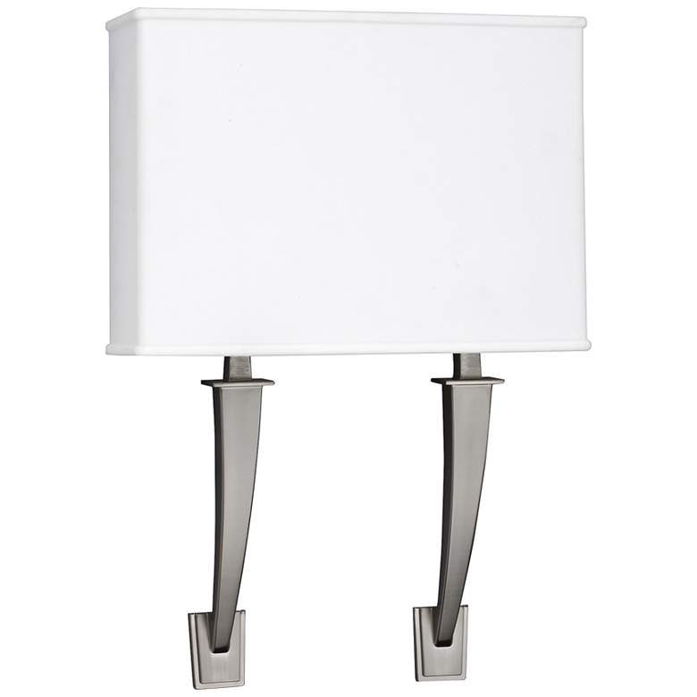 "Sheridan 18"" High Satin Nickel 2-Arm LED Wall"