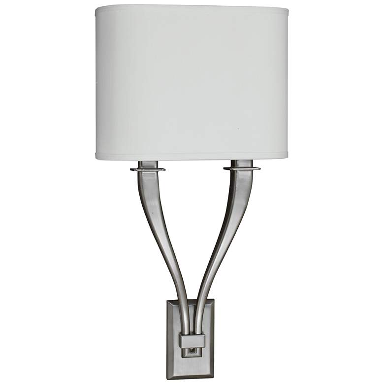 """Tory 22 3/4"""" High Satin Nickel 2-Arm LED Wall Sconce"""