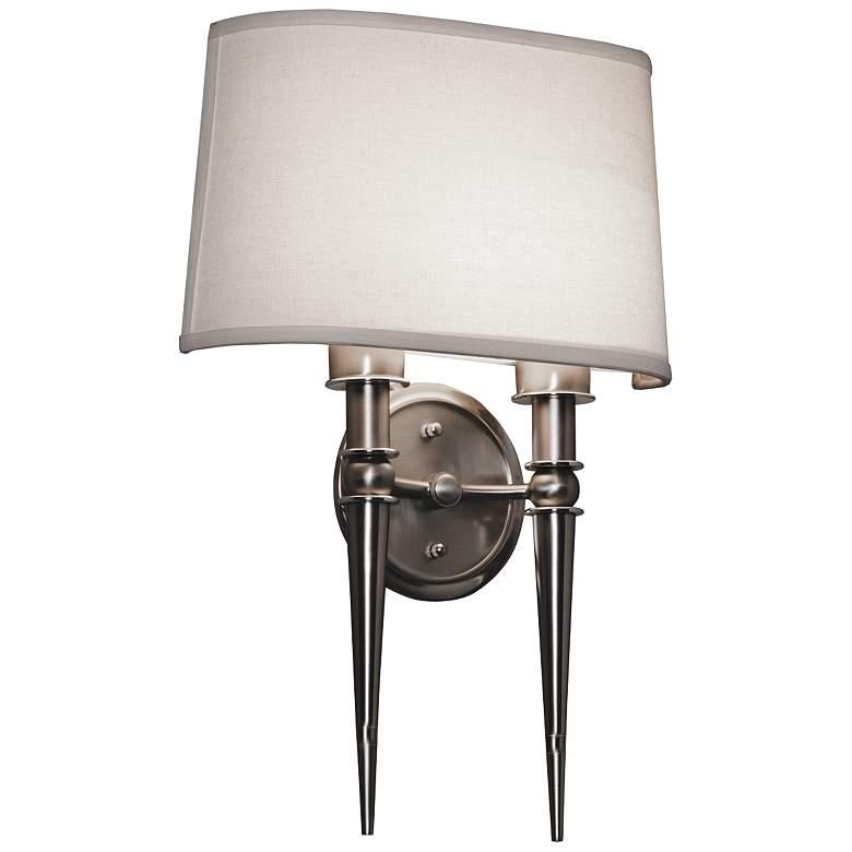 "Montrose 18"" High Satin Nickel 2-Arm LED Wall"