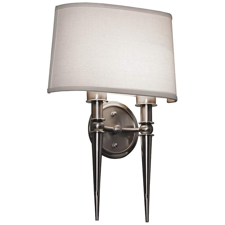 """Montrose 18"""" High Satin Nickel 2-Arm LED Wall Sconce"""