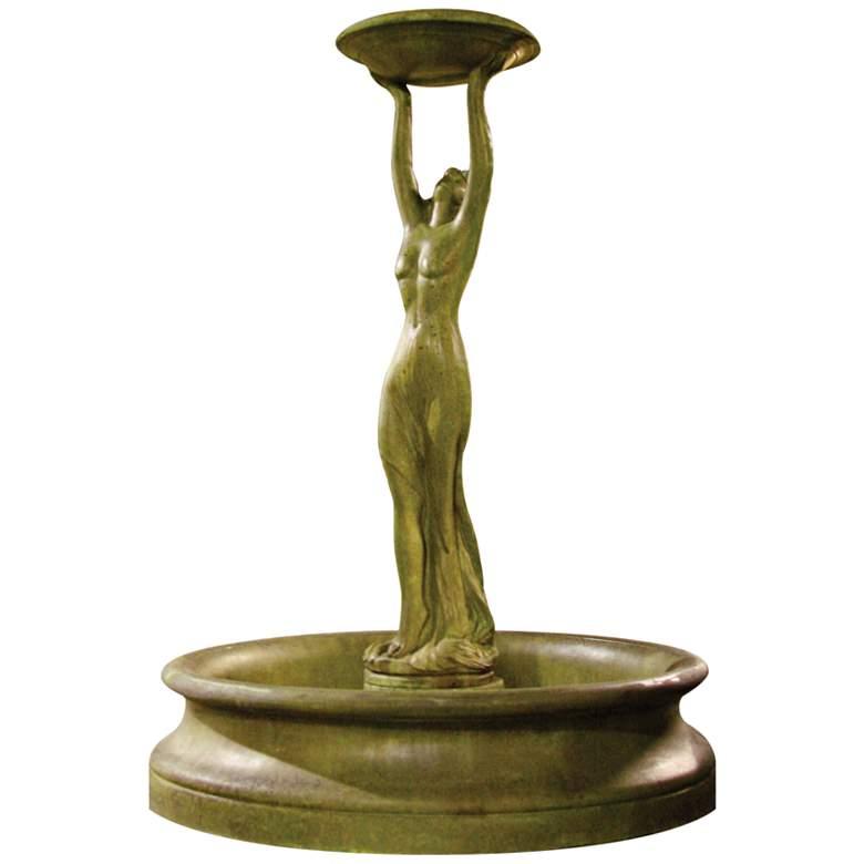 "Cecilia 72"" High Verde Woman Outdoor Floor Water Fountain"