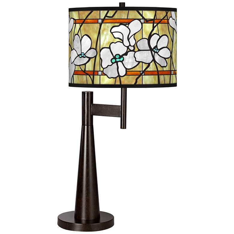 Magnolia Mosaic Giclee Novo Table Lamp
