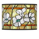 Magnolia Mosaic Giclee Lamp Shade 13.5x13.5x10 (Spider)
