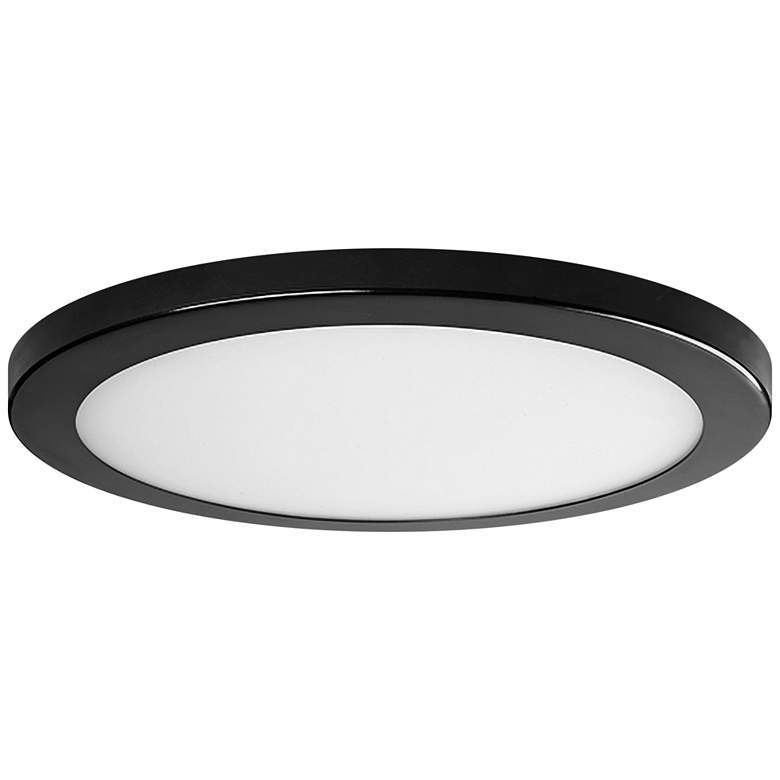 """Platter 11"""" Round Bronze LED Outdoor Ceiling Light w/ Remote"""