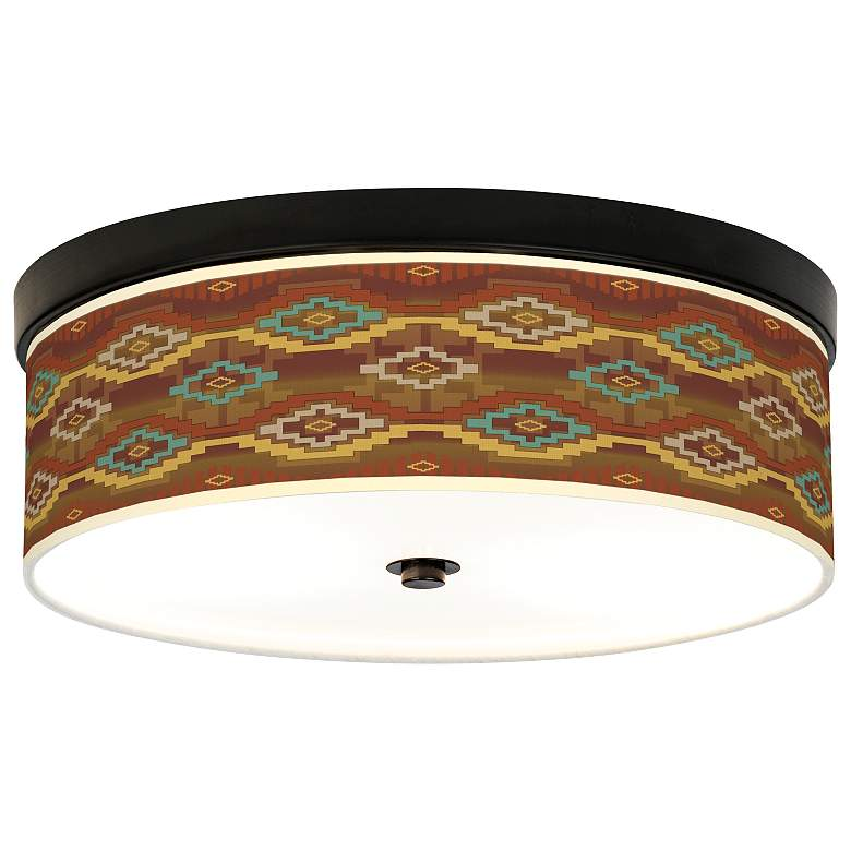 Southwest Sienna Giclee Energy Efficient Bronze Ceiling Light