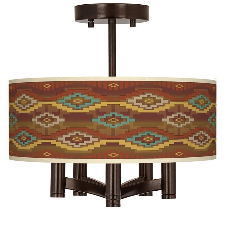 Southwest Sienna Ava 5-Light Bronze Ceiling Light