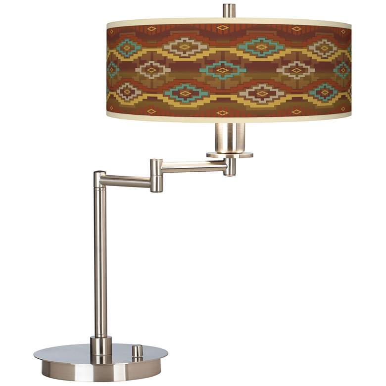 Southwest Sienna Giclee Swing Arm LED Desk Lamp