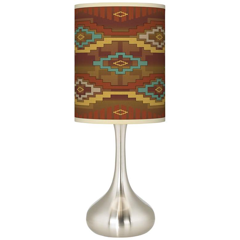 Southwest Sienna Giclee Droplet Table Lamp