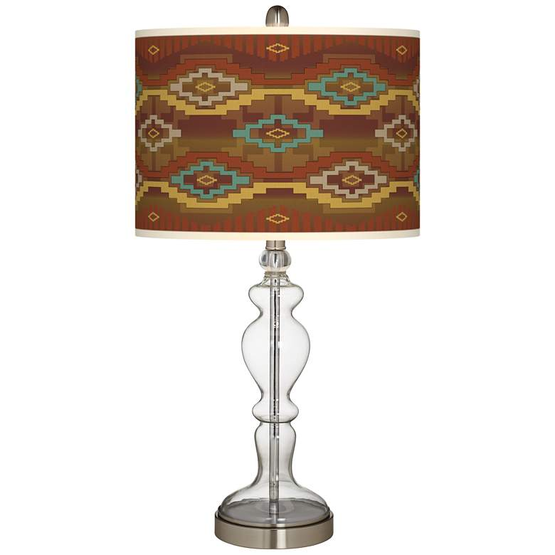 Southwest Sienna Giclee Apothecary Clear Glass Table Lamp
