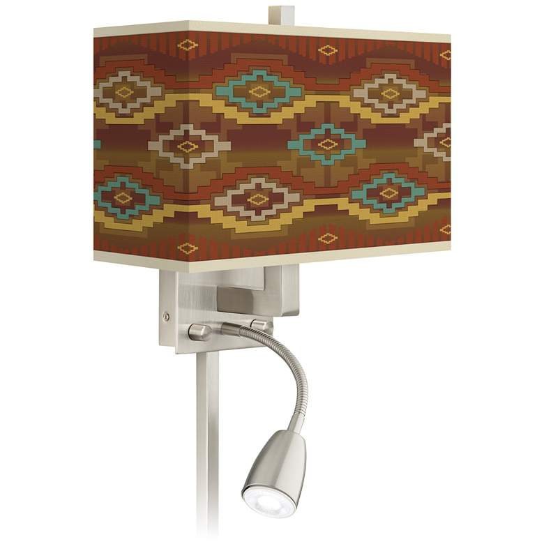 Southwest Sienna Giclee Glow LED Reading Light Plug-In Sconce