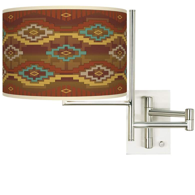 Tempo Southwest Sienna Plug-in Swing Arm Wall Lamp