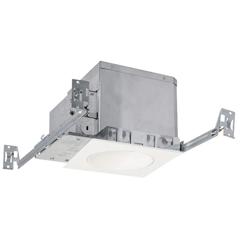 """4"""" White 750lm LED Adjustable Square Reflector Recessed Kit"""