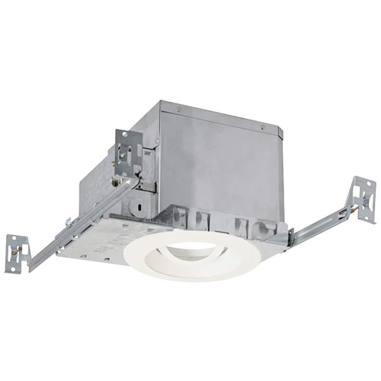 "4"" White 950 Lumen LED Adjustable Round Gimbal Recessed Kit"